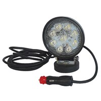 Round 9 LED Work Lamp Magnetic