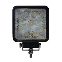 Square 9 LED Work Light Flood Beam