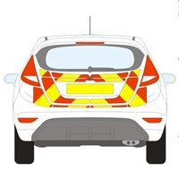 Ford Fiesta Full Chevron Kit (2008 - 2018) Flooded 3M Diamond Grade
