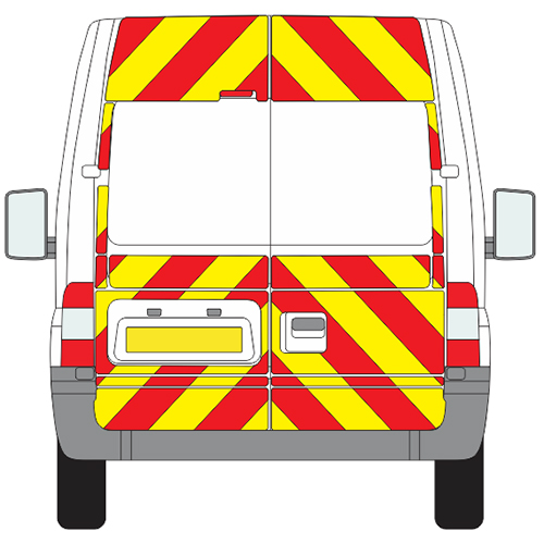Ford Transit Full Chevron Kit withh Window cut-outs ( 2006 - 2014) (Medium roof H2) Engineering Grade