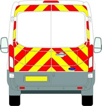 Ford Transit Full Chevron Kit withh Window cut-outs (2014 - 2020) (Medium roof H2) Flooded Engineering Grade