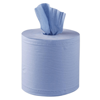Blue Paper Roll 2 ply 150M x 19cm Centre Feed Pack of 6
