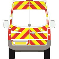 Mercedes-Benz Sprinter Full Chevron Kit withh Window cut-outs (2006 - 2020) (High/Med Roof) Flooded 3M Diamond Grade
