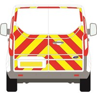 Ford Transit Custom Full Chevron Kit with Window cut-outs (2013 - 2020) Flooded 3M Diamond Grade